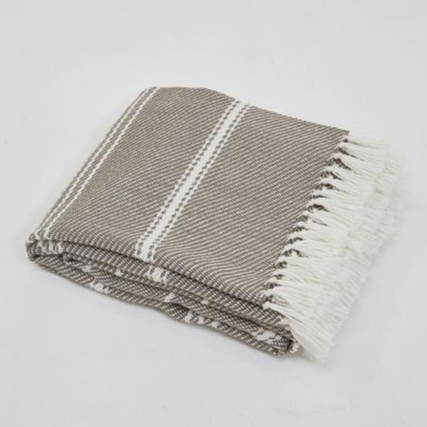 Weaver Green Oxford Stripe Monsoon Blanket